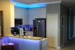 Kitchen renovation LED Lights West Chase bourgoing construction