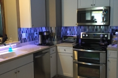 Kitchen renovation back splash West Chase bourgoing-construction