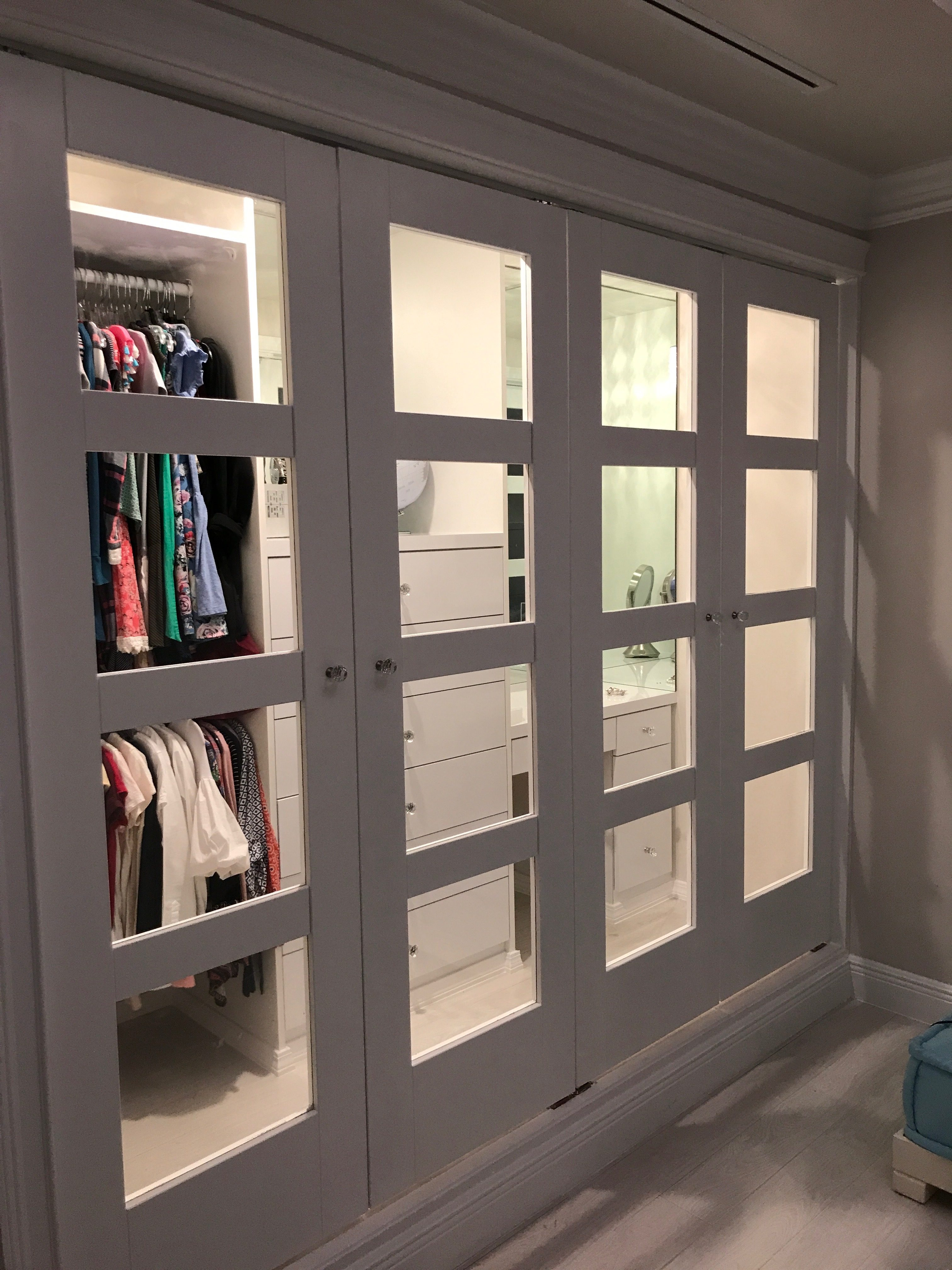 ... Ceiling Part And Added A Baseboard At The Bottom And Crown Molding To  The Top. So This Remodel Job Made This Out Dated Closet To A Beautiful  Modern One.